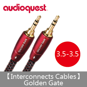 【Audioquest】Interconnects Cables Golden Gate 訊號線(3.5-3.5)