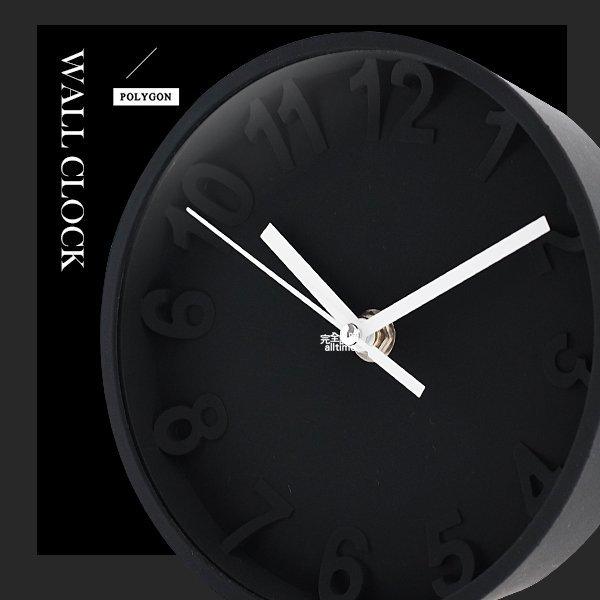 【完全計時】手錶館│極致典藏 油壓式機芯名品設計 超立體數字刻度 矽膠鐘 靜音 壁掛鐘 座鐘 兩用