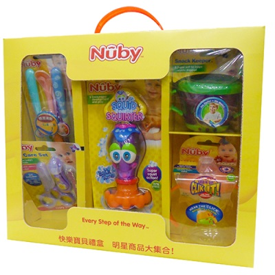 【悅兒樂婦幼用品舘】Nuby 快樂寶貝禮盒