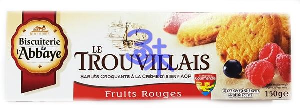 (法國) 菈蓓雅奶油酥餅-綜合莓果 1盒150公克 特價 113元 【3226219003732 】( trouvillais butter cookies with mixed berries )