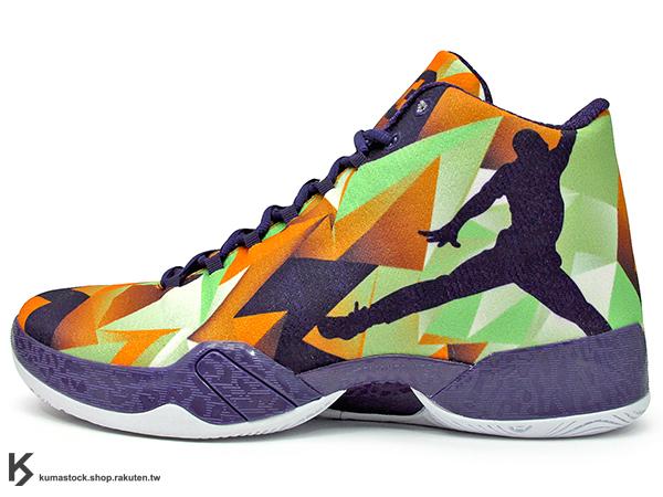 2015 雷霆隊 Russell Westbrook 代言 新生代飛人 限量發售 史上最輕 NIKE AIR JORDAN 29 XX9 XXIX HARE 男鞋 兔寶寶 橘綠紫 幾何圖形 飛人 PERFORMANCE WOVEN 功能性編織鞋面 FLIGHT PLATE + ZOOM 避震科技傳導 籃球鞋 (695515-805) !