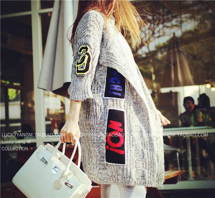 【促銷】防寒也要凹造型 倫敦風大毛衣外套超級範兒名模最愛-Lucky洋M