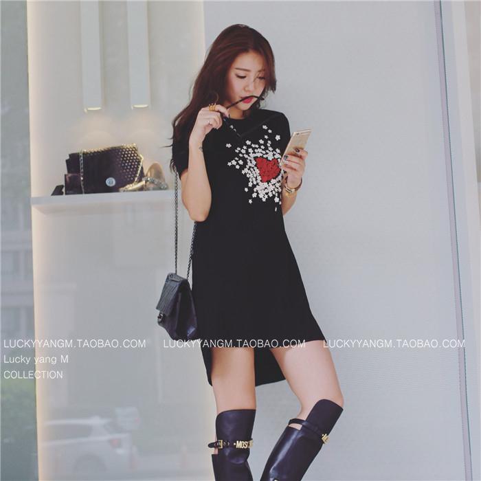 【促銷】約會私服 冬日裡的針織小洋裝 提升氣質迅速能幫你增加好感   黑色/ 杏色-Lucky洋M