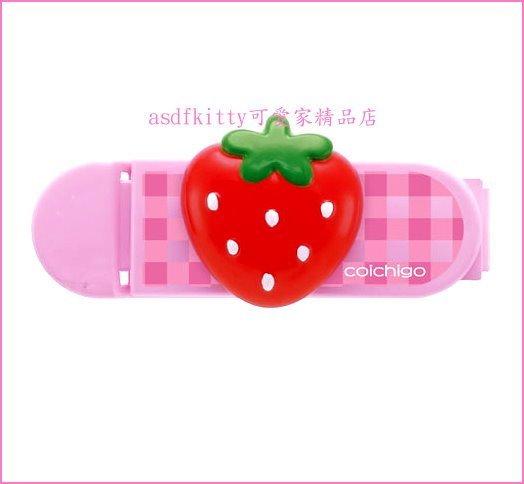asdfkitty可愛家☆日本SKATER草莓造型封口夾2入組/密封夾(S)-零食袋.麵粉袋.都可夾-日本正版商品