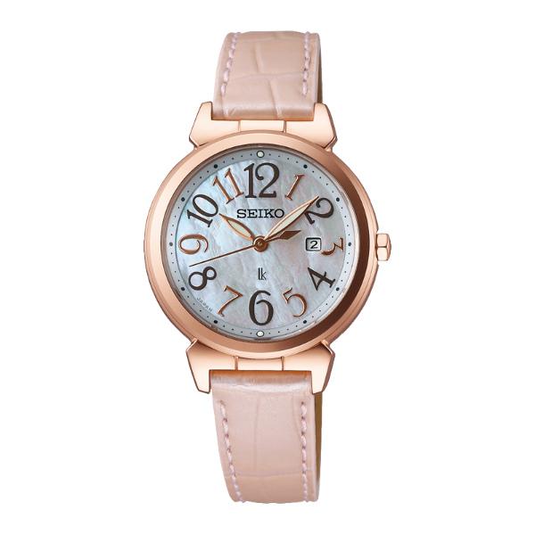 Seiko Lukia  V137-0BF0P(SUT190J1)典雅時尚太陽能腕錶/白貝面30mm