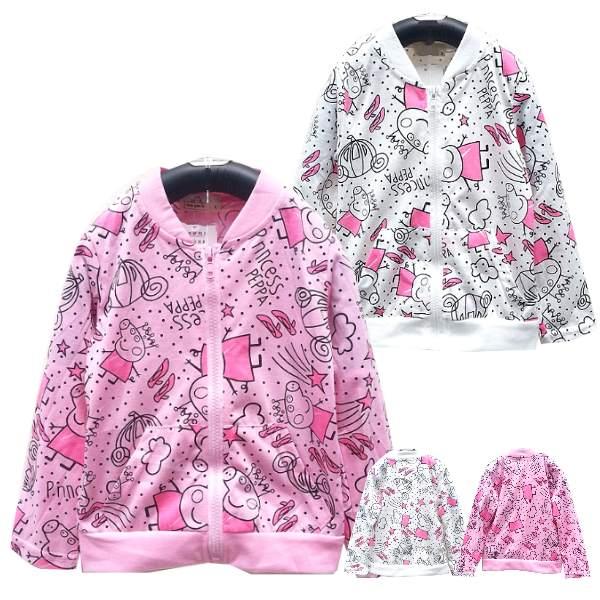 【班比納精品童裝】彈力粉紅豬妹妹小外套-粉【BB150731006】