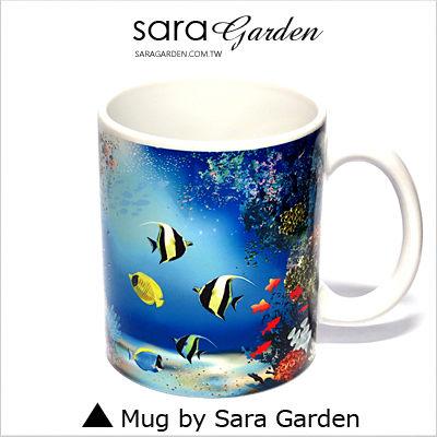 (24H) 客製 質感 彩繪 馬克杯 Mug 海底 世界 熱帶魚 咖啡杯 陶瓷杯 杯子 Sara Garden 品牌手作【M0320009】