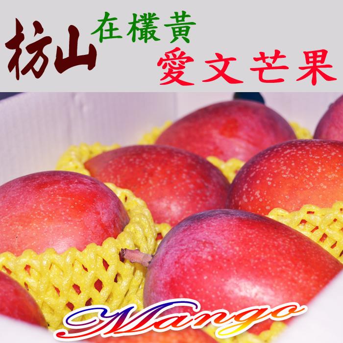 ✿仲菁✿台灣屏東枋山在欉黃愛文芒果8粒裝-免運費