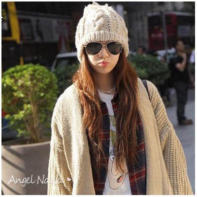 冬保暖必備 編織麻花 毛球 針織 男女毛帽子【HA0005】AngelNaNa