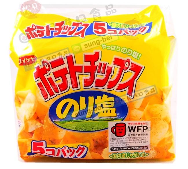 《松貝》湖池屋海苔洋芋片5袋入150g【4901335122244】