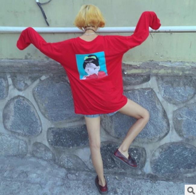 50%OFF【G017627C】實拍韓國ulzzang原宿卡通軟妹可愛寬鬆長袖衛衣學生