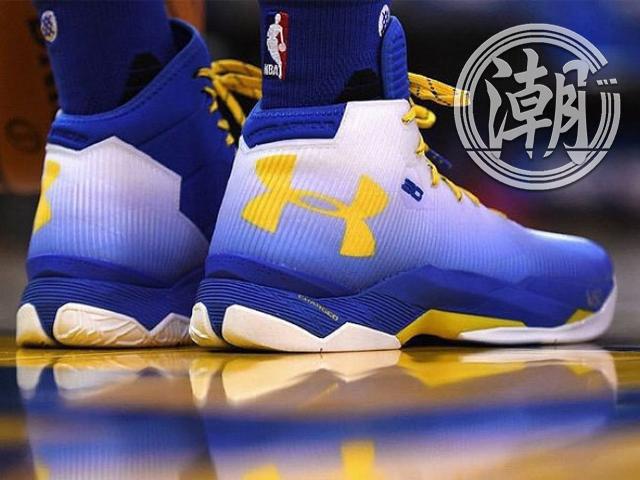 Under Armour UA Curry 2.5 專屬配色 白藍黃 男鞋 籃球鞋【T33】潮 歲末出清NIKE