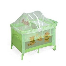 [衛立兒wellbaby生活館]  Baby ACE豪華型雙層遊戲床(綠)