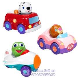 ★衛立兒生活館★Kids II-來玩球吧-跑跑寶貝迴力車(消防車/飛機/粉紅寶貝車)