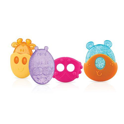 ★衛立兒生活館★Nuby 冰膠固齒玩具-動物造型(隨機出貨)