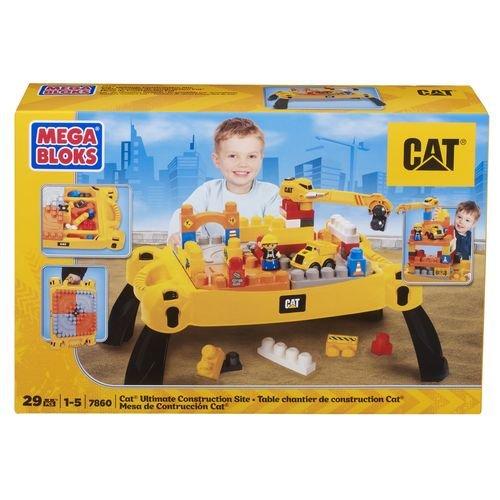 ★衛立兒生活館★MEGA BLOKS MEGA-CAT工程積木遊戲桌-29PCS