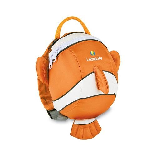 ★衛立兒生活館★英國 LittleLife 動物造型幼兒輕背包/防走失背包【小丑魚】