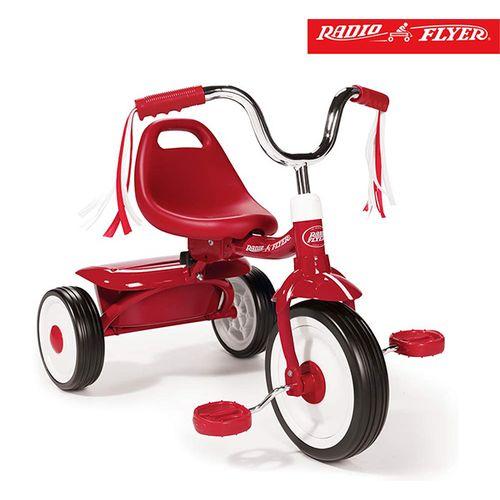 ★衛立兒生活館★美國【Radio Flyer】紅騎士折疊三輪車(彎把)