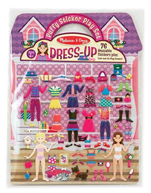 ★衛立兒生活館★美國瑪莉莎 Melissa & Doug 可重複貼泡泡貼紙遊戲書-女孩時尚裝扮