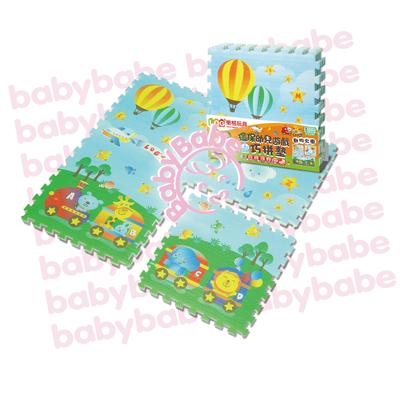 ★衛立兒生活館★同富BabyBabe 環保EPE安全拼接地墊-動物火車B938