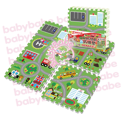 ★衛立兒生活館★同富BabyBabe 環保EPE安全拼接地墊-動物社區B938