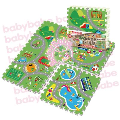 ★衛立兒生活館★同富BabyBabe 環保EPE安全拼接地墊-動物遊樂園B938
