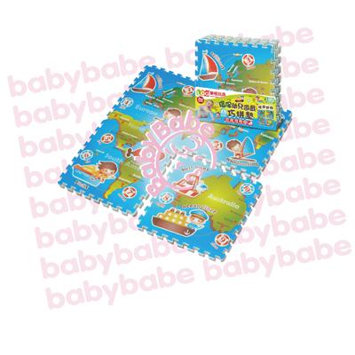 ★衛立兒生活館★同富BabyBabe 環保EPE安全拼接地墊-環遊世界B938
