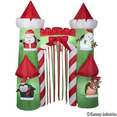 X射線【X027895】274cm充氣聖誕城堡拱門,聖誕佈置/充氣擺飾好收納/聖誕充氣/佈置/開幕/會場佈置/打卡