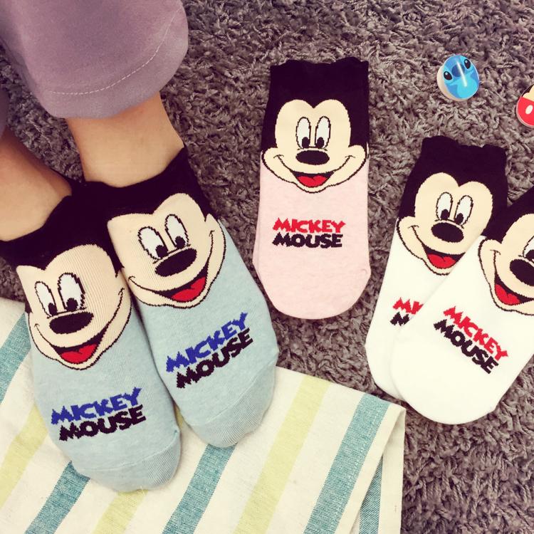 PGS7 迪士尼系列商品 - 迪士尼 正韓 大臉 短襪 米奇 米妮 隱形襪 襪子 米老鼠