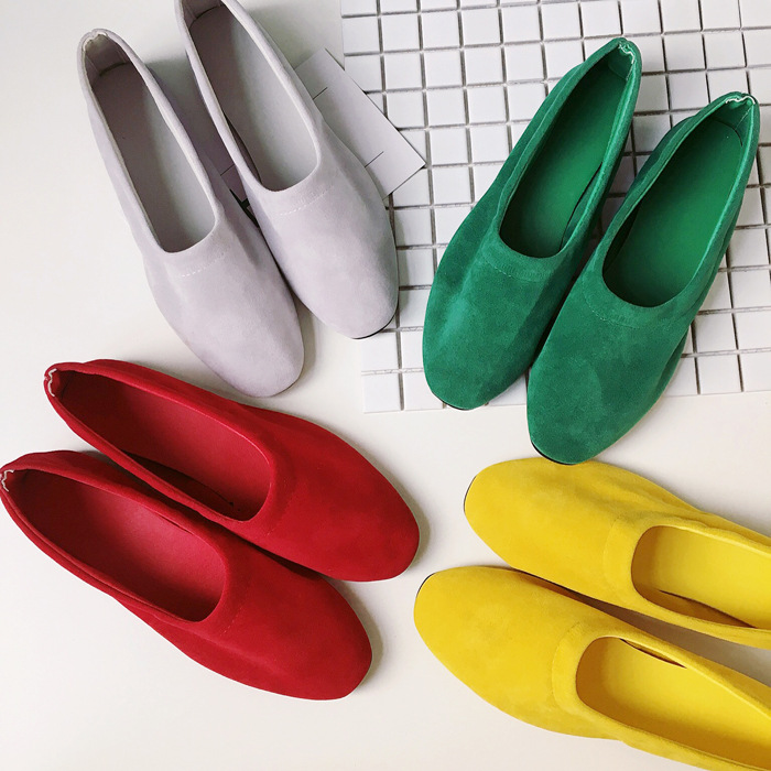 2016新款韓版輕薄好穿平底鞋純色糖果色淺口低筒顯瘦磨砂平底便鞋