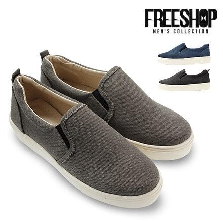 懶人鞋 Free Shop【QSH0585】日韓風格帆布百搭素色低筒休閒鞋懶人鞋 三色 (N44) MIT台灣製