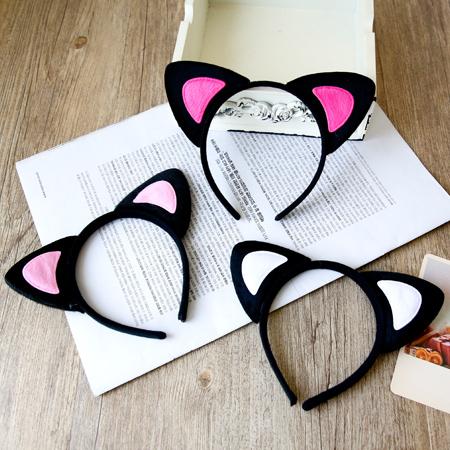 明星同款 可愛貓耳朵髮箍 髮飾 髮圈 頭飾 頭箍【N201276】