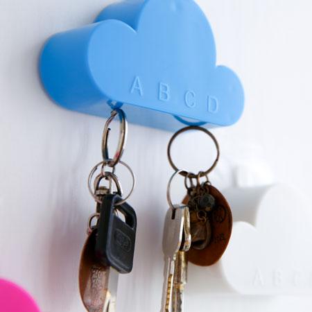 創意小物 雲朵強力吸鐵鑰匙掛 雲朵 白雲 鑰匙圈 鑰匙 吊飾 磁鐵 鑰匙掛 居家 擺飾【B062327】