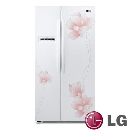 買再送好禮!LG 樂金638L花之舞系列對開冰箱-花漾白【GR-BL65M】【小蔡電器】