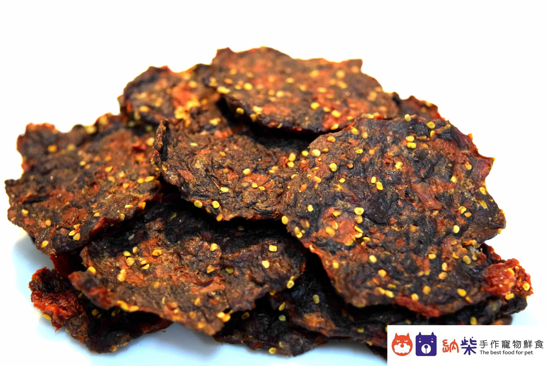 納柴手作寵物鮮食 - 牛肉小圓片(枸杞) 50g