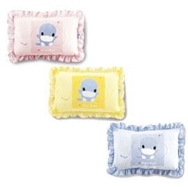 【悅兒樂婦幼用品舘】KU KU 酷咕鴨 荷葉邊中童兩用枕(粉/藍/黃)