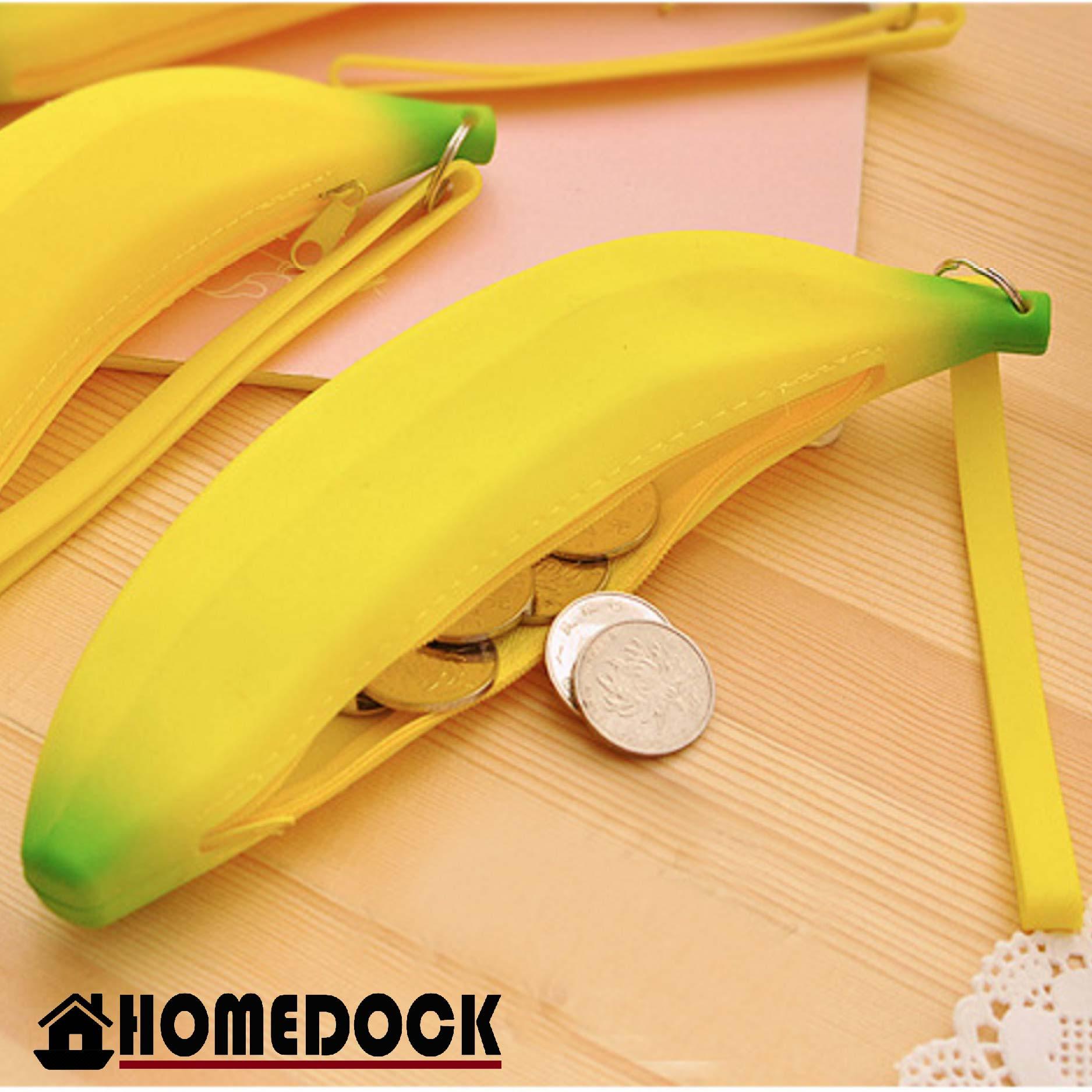 HOMEDOCK-可愛香蕉零錢包(矽膠) 錢包/小包/隨身包/皮夾/zakka/銅板/硬幣