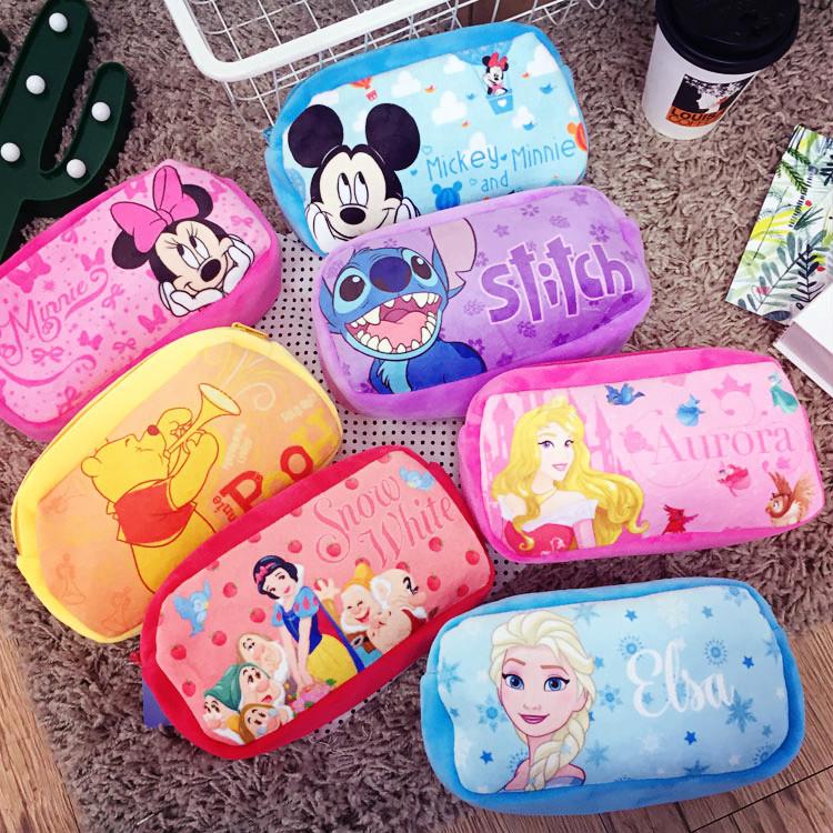 PGS7 (現貨+預購) 迪士尼系列商品 -  迪士尼 絨布 系列 筆袋 鉛筆盒 化妝包 收納包 米妮 米奇 史迪奇