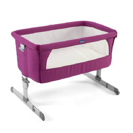 ★衛立兒生活館★Chicco Next2Me多功能移動舒適嬰兒床-紫紅色  贈蘇菲長頸鹿1隻
