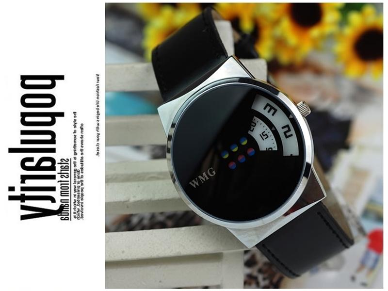 《316小舖》【PG33】(時尚石英手錶-五彩轉盤造型手錶-單件價 /中性手錶/學生手錶/生日禮物/韓版手錶/韓系手錶/韓式手錶)