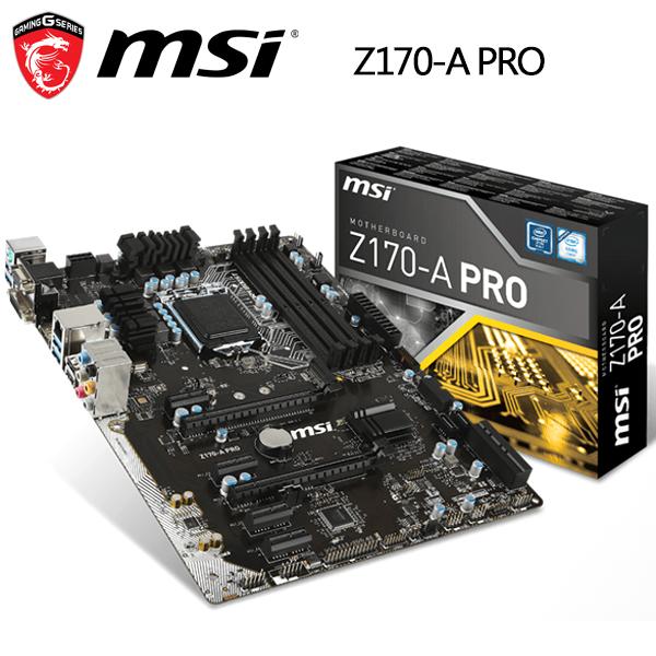 【MSI微星】Z170-A PRO 主機板(DDR4 主機板)