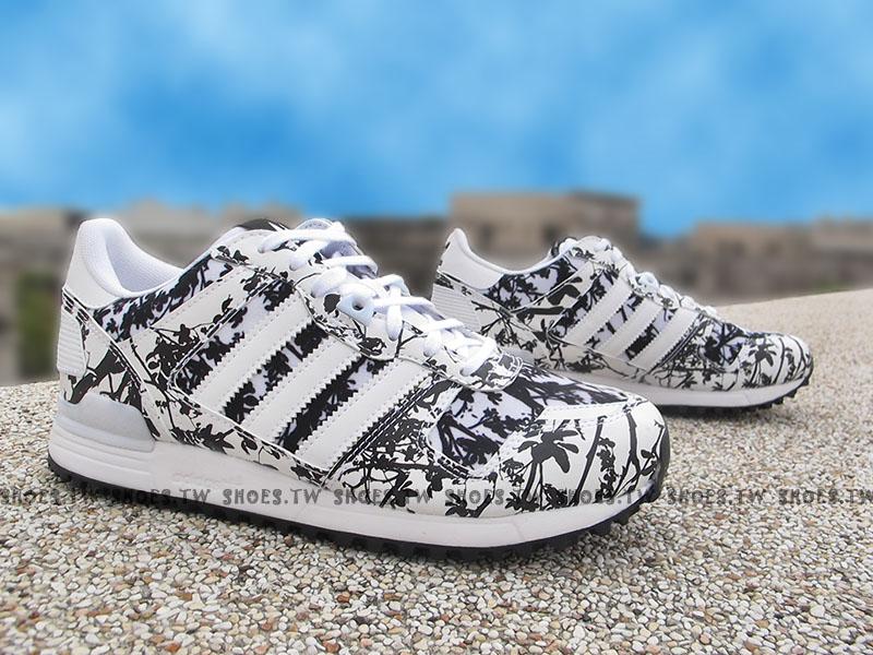 《特價6折》Shoestw【AQ3143】ADlDAS ZX ZX700 慢跑鞋 白棕梠樹 押花 皮革 女生