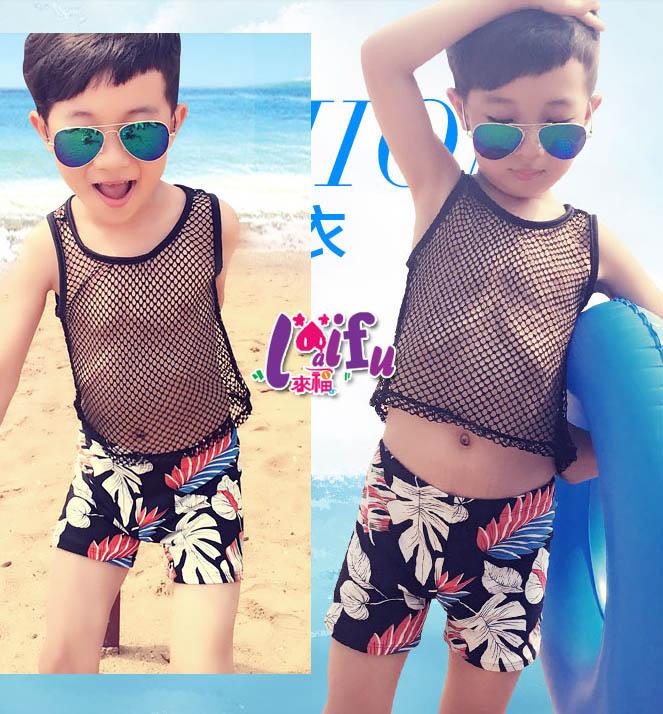 ★草魚妹★F56兒童泳衣網狀洞洞舞者小朋友游泳衣二件式泳裝大童,一套售價599元