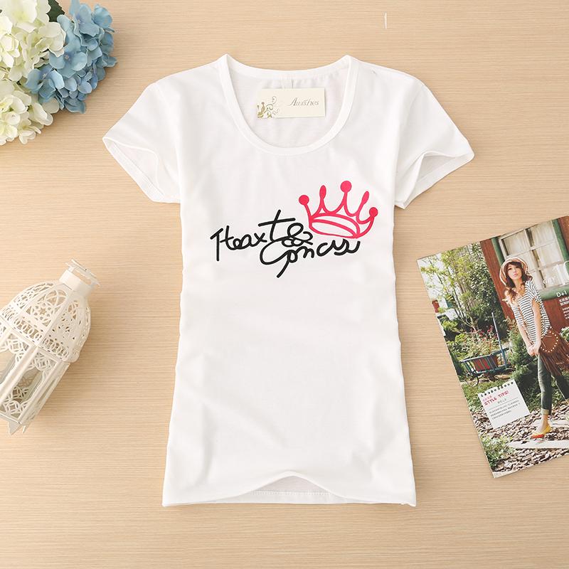 【滿3件,一件150元】流行簡單 修身 女生 短袖 ~簡單英文字母~ 棉T