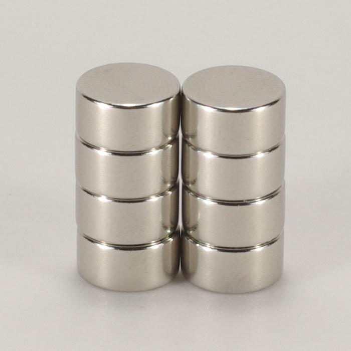 強力磁鐵釹鐵硼 圓直徑1.0公分*厚0.5公分 8個