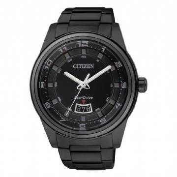 CITIZEN 黑鋼都會時尚男錶 AW1284-51E