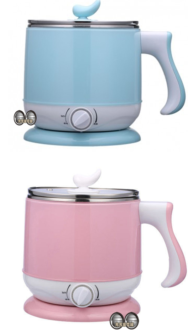 【晶工牌】 2.2公升多功能不鏽鋼電碗 JK-301(粉紅.粉藍二選一)