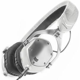 志達電子 XS-U-Wsilver V-MODA XS 耳罩貼耳式隔音金屬摺疊耳機