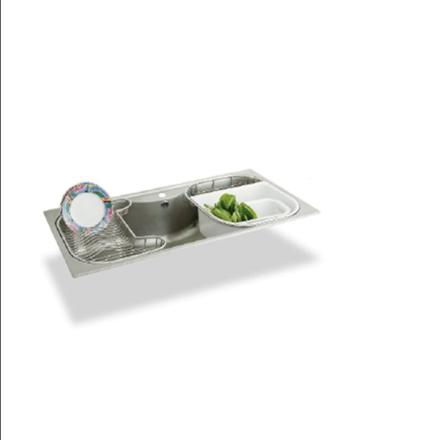 PDK-326TS PAIDOK 不鏽鋼大單槽+滴水藍 零利率 熱線:07-7428010