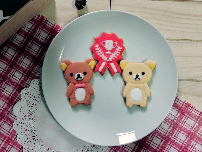 【GJ 私藏點心 】祝福尼~~拉拉熊 冠軍/人生勝利組【3片入】 手繪糖霜餅乾禮盒